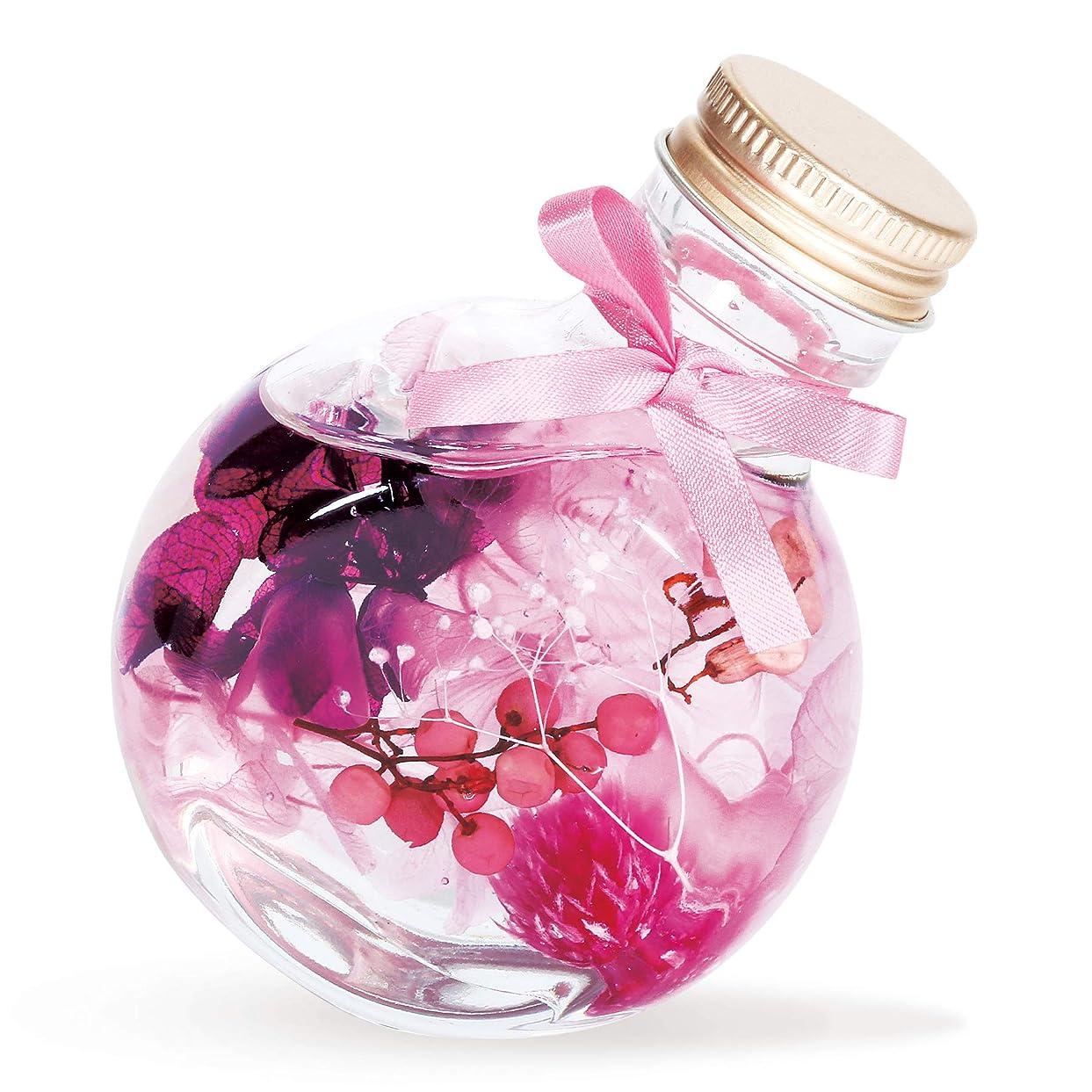子学習新着liLYS épice リリスエピス ハーバリウム プリザーブドフラワー 花 プレゼント 母の日 日本製 ギフト フラスコタイプ (ピュアピンク)