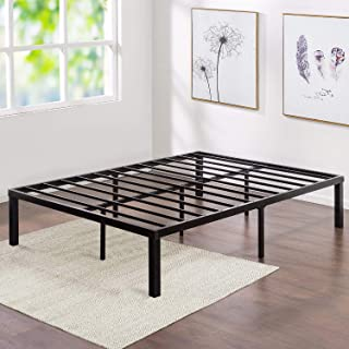 VECELO Metal Platform Bed Frame Heavy Duty Steel Slat/Easy Assembly Mattress Foundation/Noise Free&No Box Spring Needed Size,Queen,
