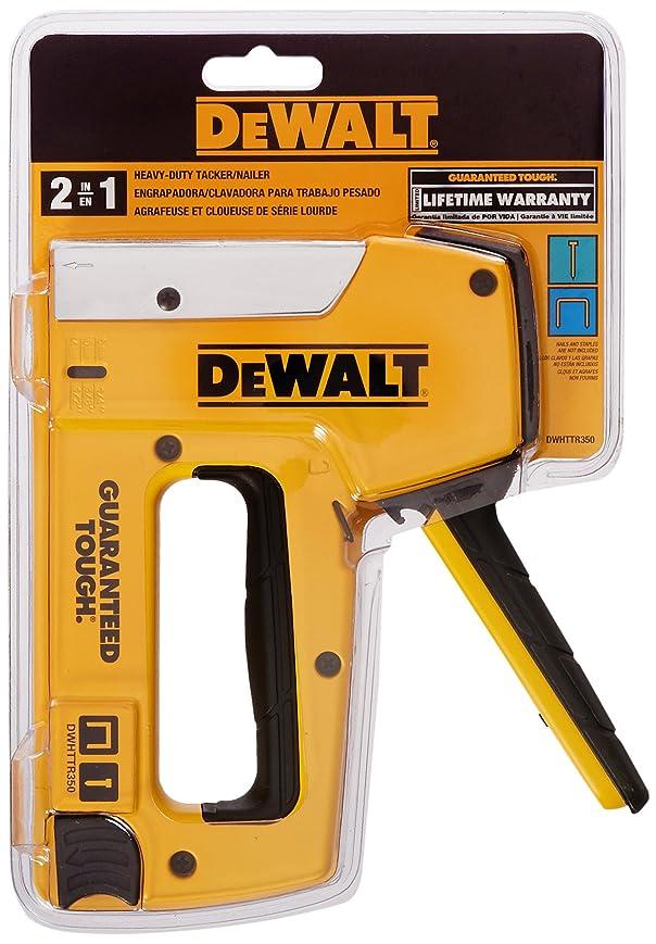 歌う模倣明日Dewalt DWHTTR350 Heavy-Duty Aluminum Stapler/Brad Nailer by DEWALT