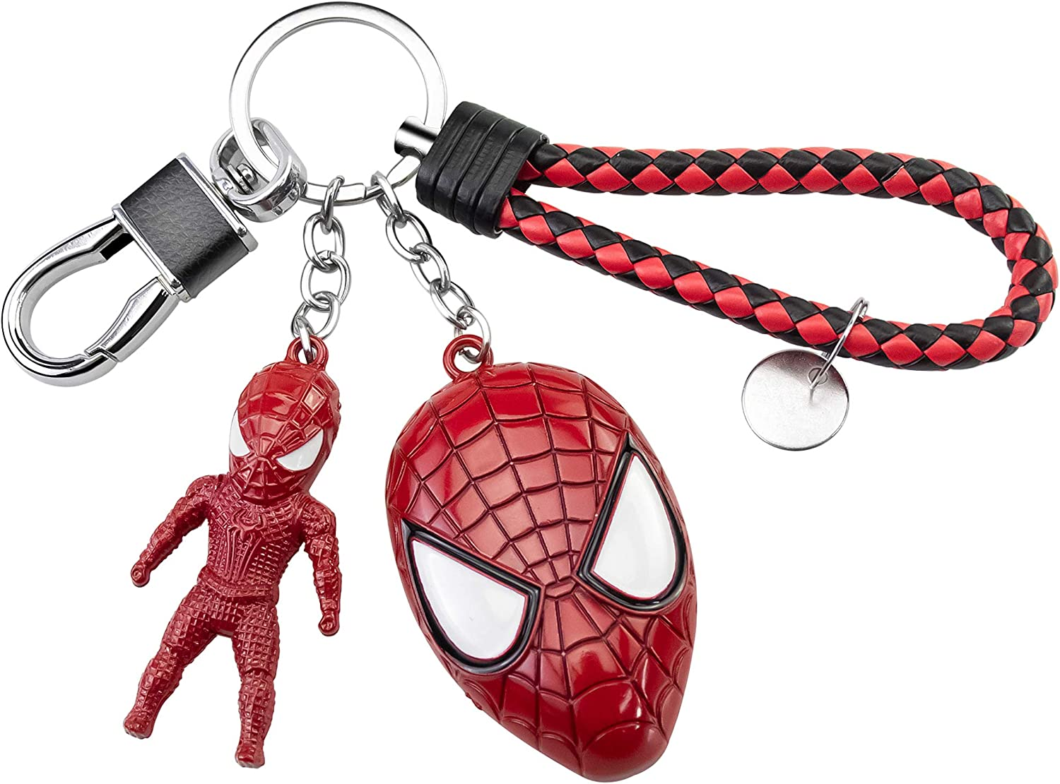 Shuji Spiderma_n Keychain-Marve_l Toys Red Alloy Key Chain 1 Set Gifts for Men Boys,98