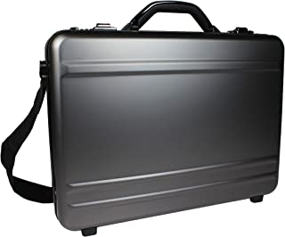 World Traveler European-Style Gun Metal Aluminum Laptop Attache Case Briefcase, Silver, One Size