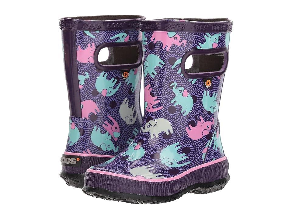 Bogs Kids Skipper Elephants (Toddler/Little Kid) (Purple Multi) Girls Shoes