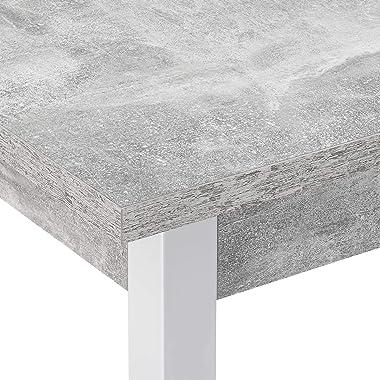 [en.casa] Table de Salle à Manger Table de Cuisine Bureau MDF Mélaminé Acier Revêtu par Poudre 120 cm x 60 cm x 75 cm Effet B