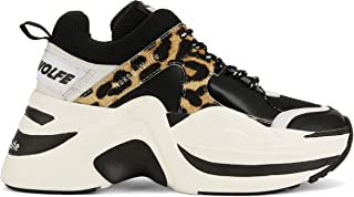 NAKED WOLFE Women's NWSTRACKLEOPARD Brown Leather Sneakers