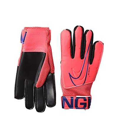 Nike Kids Match Goalkeeper Soccer Gloves (Little Kids/Big Kids) (Laser Crimson/Black/Black) Over-Mits Gloves