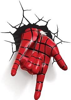 3D Light FX - Lámpara LED Decorativa 3D con Forma de la Mano del Spiderman de Marvel (lámpara Que ya no está en fabricación).