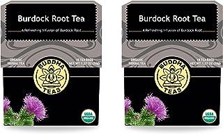 Burdock Root Tea - Organic Herbs - 18 Bleach Free Tea Bags (Pack of 2)