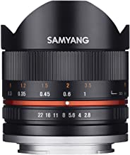 Samyang F1220306101 - Objetivo fotográfico CSC-Mirrorless para Sony E (Distancia Focal Fija 8mm, Apertura f/2.8-22 II UMC, Ojo de pez), Negro