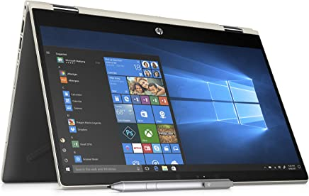 "HP 14-cd0001la Laptop 14"" HD Táctil, Intel Pentium Gold 2.3GHz, 4GB RAM, 500GB HDD, Gráficos Intel HD 610, carcasa dorada y base negra, Windows 10"