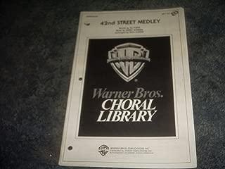 42nd Street Medley Sheet Music Book 1981