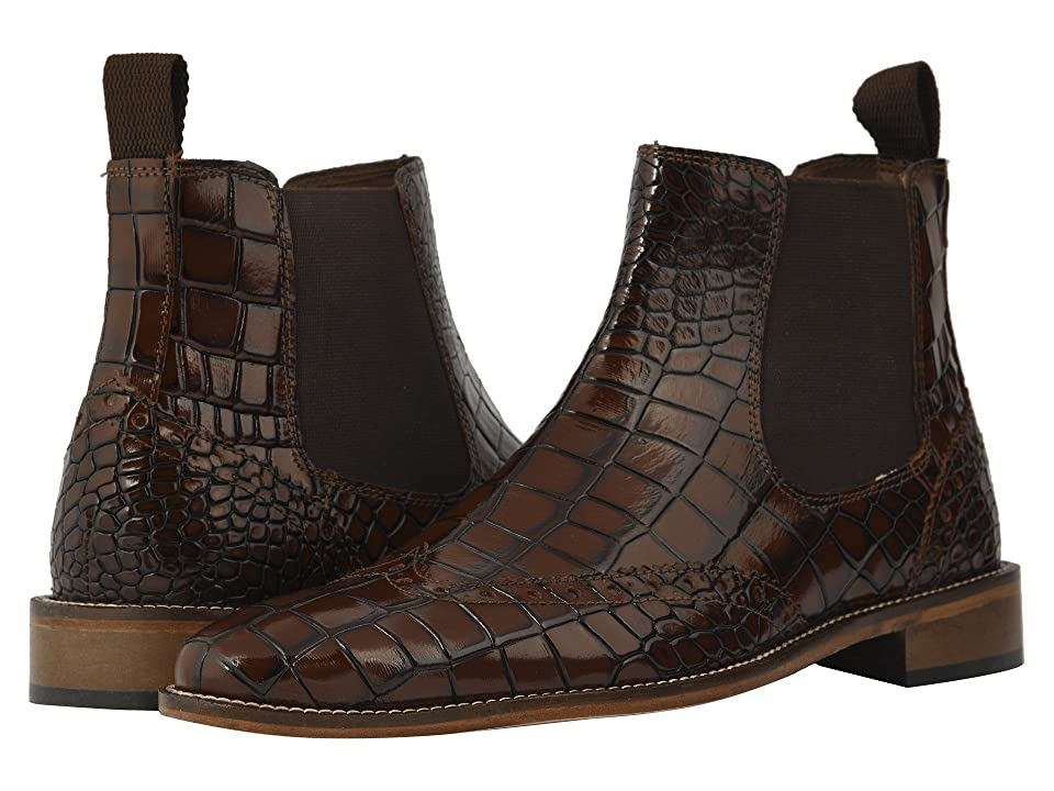 Stacy Adams Frontera Croc Wingtip Chelsea Boot (Cognac) Men