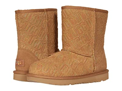 UGG Kids Classic II Graphic Stitch (Little Kid/Big Kid) (Chestnut) Girls Shoes