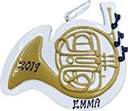 Personalized Musical Instruments Christmas Ornament French Horn