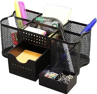 DecoBros Desk Supplies Organizer Caddy, Black