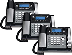 $327 » RCA 25424RE1 4-Line Expandable Phone System for Home / Office Desk - Base Speakerphone with Caller ID and Intercom, Compat...