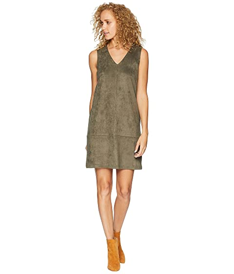 BISHOP + YOUNG Faux Suede Shift Dress, Olive