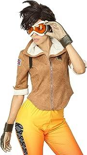 Overwatch Tracer Costume Lena Oxton Women's Cosplay Jacket/Pants Halloween Game Anime Battle Suit