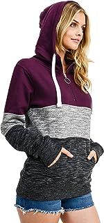 esstive Women's Ultra Soft Fleece 1/4 Zip-Up Pullover Hoodie Sweatshirt