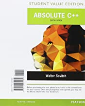 Absolute C++ + MyProgrammingLab with Pearson eText Access Card