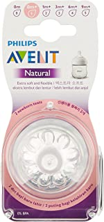 Philips Avent SCF651/23 Natural Nipple, Newborn flow, 0m+, 2 Piece