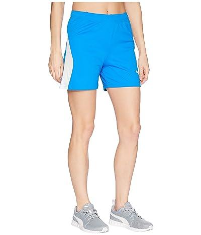PUMA Liga Shorts (Electric Blue Lemonade/Puma White) Women