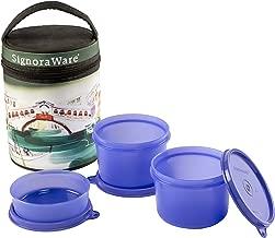 Signoraware Venice Executive Medium Lunch Box with Bag Set 3-Pieces Deep Violet
