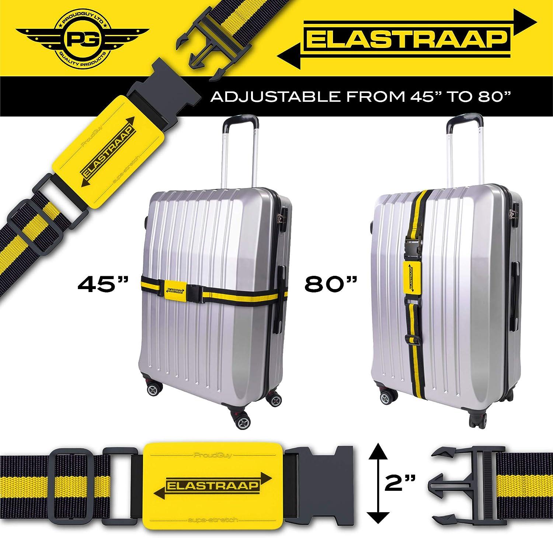 Suitcase Bands For Travel Bag Luggage Straps 1 Strap, Bright Orange 1pk Adjustable Non-Slip Baggage Belts