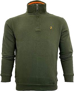 BRAVE SOUL Mens Sweatshirt Wiggin Half Zip Chest Logo Pullover Funnel Neck Top