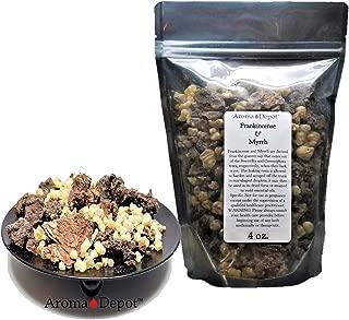 Frankincense & Myrrh Resin 4 oz Organic Aromatic Tear Incense Olibanum and Commiphora Myrrha Rock Gum Mix