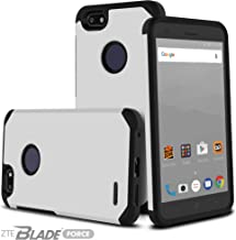 Celljoy Case compatible with ZTE Blade Force, ZTE Blade X [Liquid Armor] Slim Dual Layer Protective [[Shockproof]] Matte Metallic / Glossy Design Hybrid Bumper -Impact Resistant- Thin (Silver)