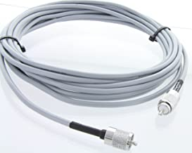MPD Digital USA Made RG8X (Gray) Coax Cable w/Soldered Thread-On PL259 Connectors, 12FT