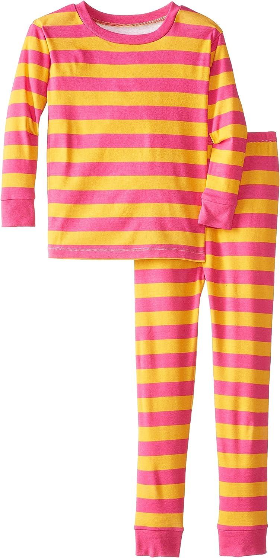 New Jammies Big Girls' Classic Stripe Orange Pajamas
