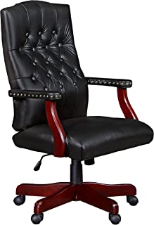 Regency Ivy League Swivel Chair, Black