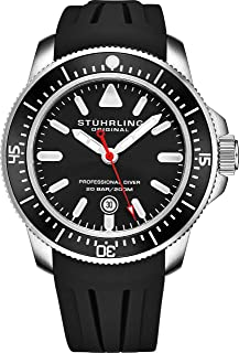 Stuhrling Original Mens Watch Analog Watch Dial, Pro Sport Diver with Screw Down Crown and Water Resistant to 200M, Japanese Quartz Movement - Maritimer Watches for Men Collection