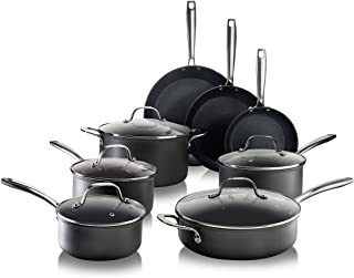 Granitestone Pro Pots and Pans Set 13 Piece Hard Anodized Premium Chef's Cookware with Ultra Nonstick Diamond & Mineral Co...