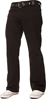Enzo Mens Straight Leg Jeans Regular Fit Denim Trousers Pants Zip Fly Free Belt