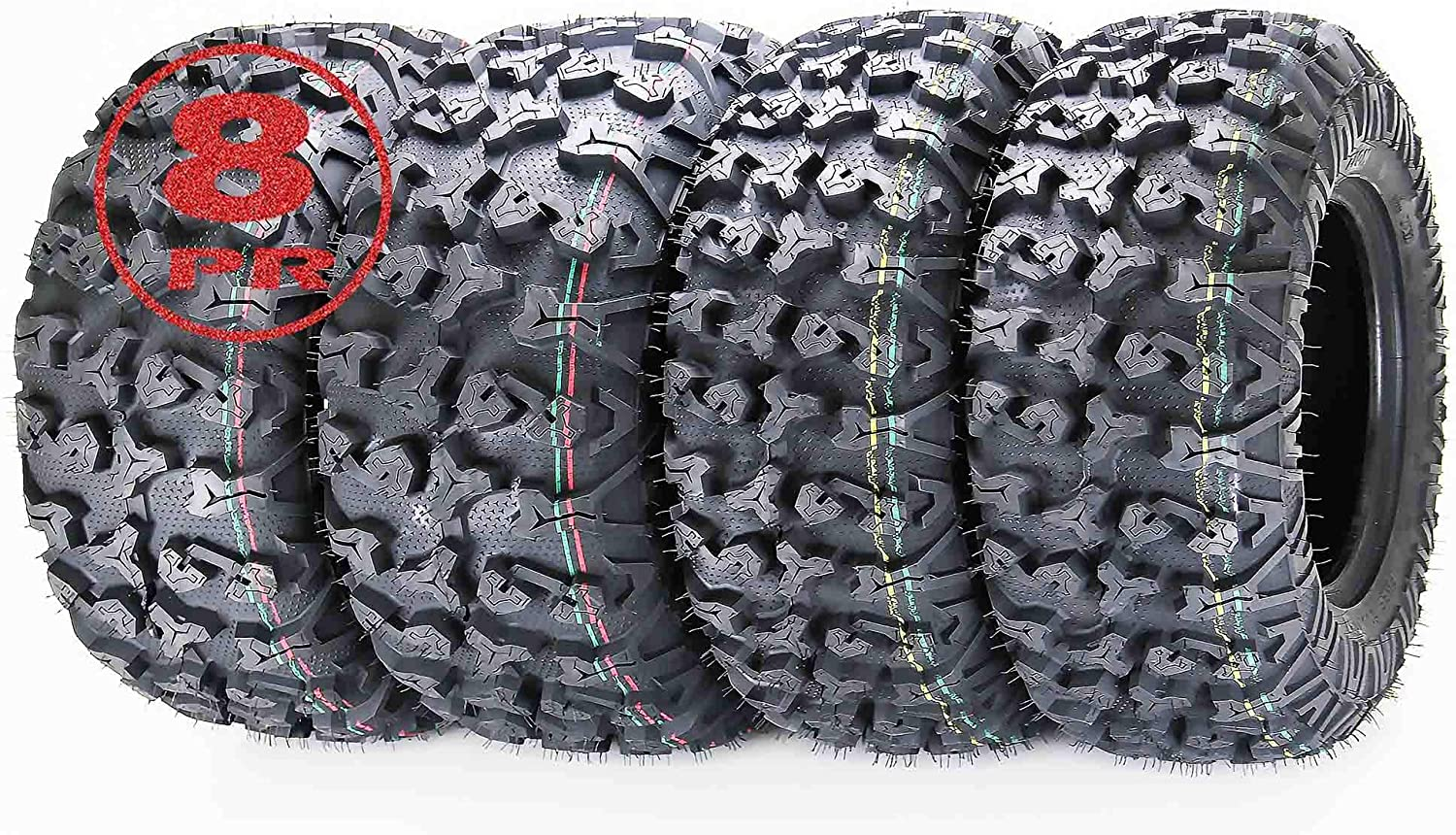FREE COUNTRY Set 4 Premium ATV 25x11-12 w Tires Year-end annual account Si 8PR 25x8-12 Direct sale of manufacturer