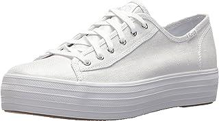 ee9e37104d3 Keds Women s Triple Kick Metallic Linen Sneakers