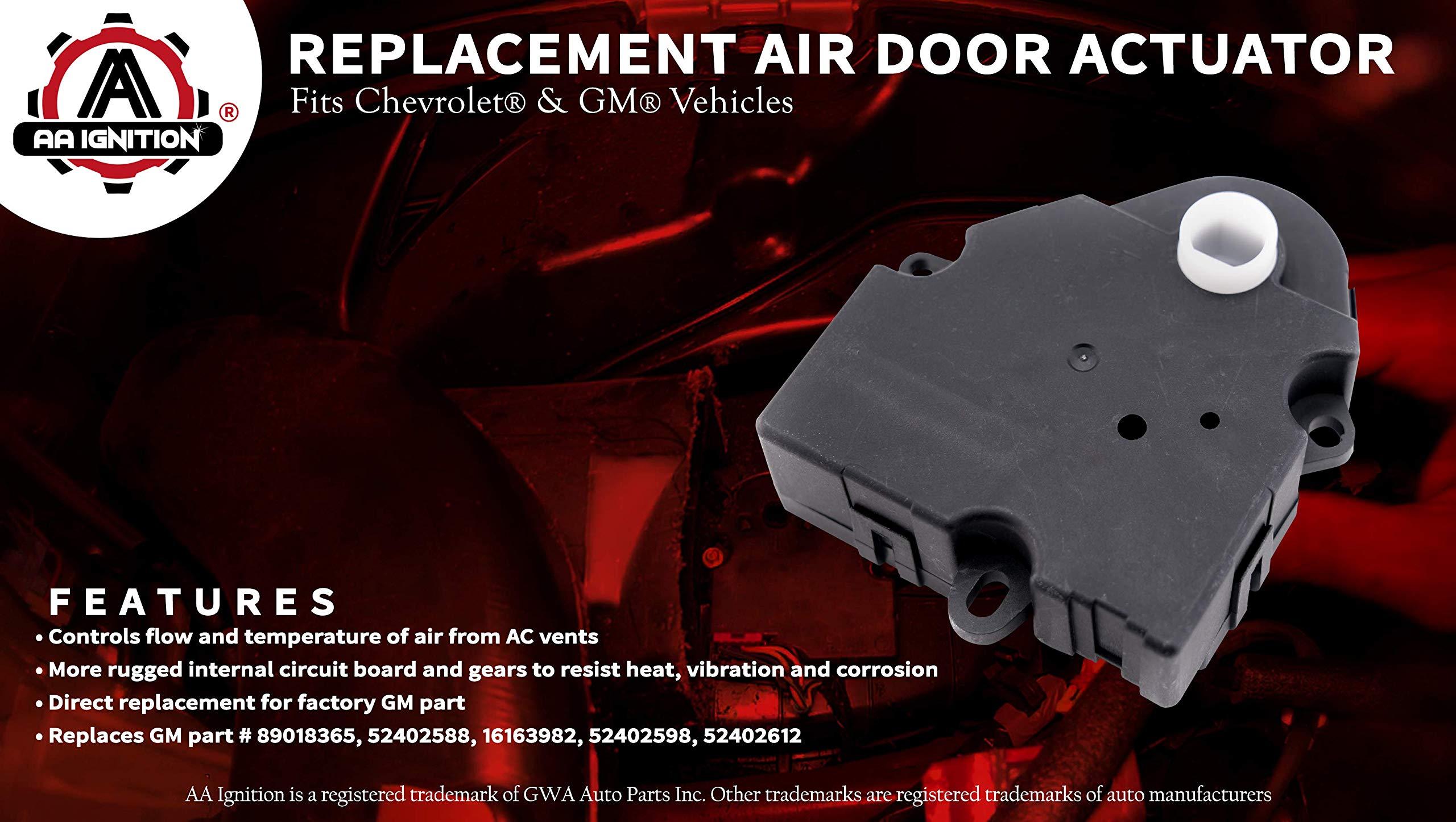 HVAC Heater Air Blend Door Actuator Replaces 89018365 52402588 for GMC Sierra Chevy Silverado 1500/&2500 Tahoe Sierra-H 604-106