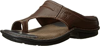 Hush Puppies Men's Decent Leather Flip Flops Thong Sandals