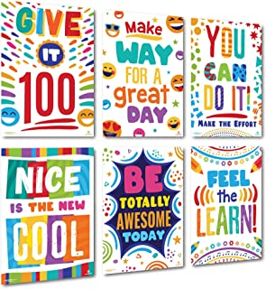Sproutbrite Classroom Poster Decorations for Elementary and Middle School Inspiration Motivation