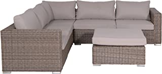 Garden Impressions 02200GS Lounge Set, Helsinki New, 256 x 256 x 64 cm, Braun