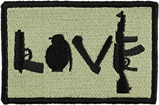 OneTigris Original Patch Tactical Morale Military Patch (Love - Olive Green)
