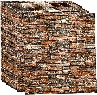 3d Brick Wallpaper Stickers, Self Adhesive Pe Foam Diy Wall Stickers, Peel And Stick 3d Wall Panels, 77x70cm Decorative Wa...
