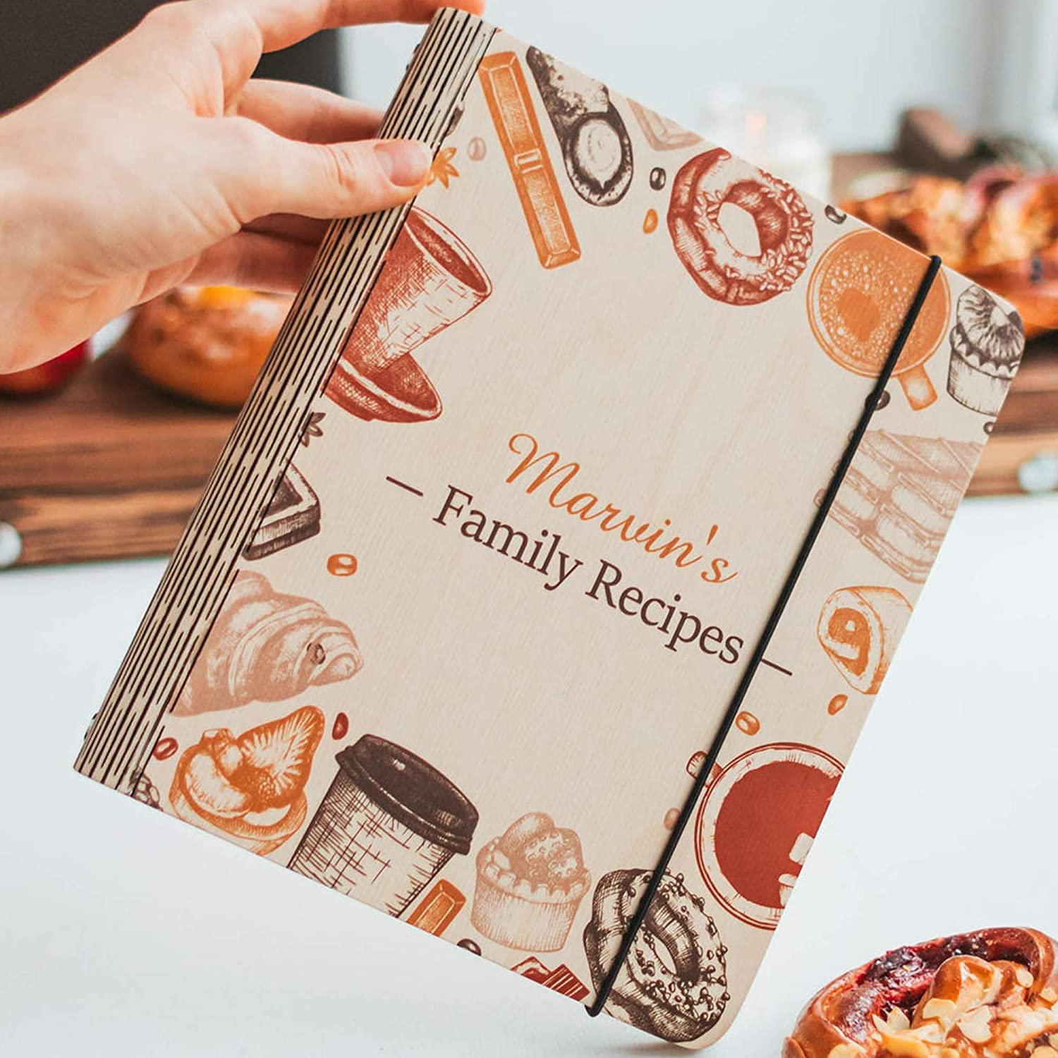 Wooden Max 46% OFF Blank Recipe Sales Book Binder Notebook - Personalized w