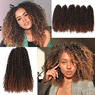 12 Inch Marlybob Crochet Hair 6 Small Packs/lot Crochet Braids Jerry Curly Hair Extensions Ombre Synthetic Braiding Hair (1B/30#)