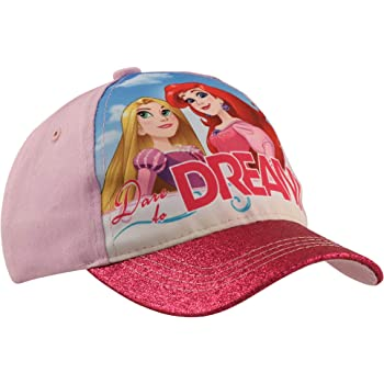 Blue Denim and Pink Disney Princess Baseball Hat for Girls