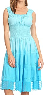Spring Maiden Ombre Peasant Dress
