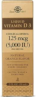 Liquid Vitamin D3 (Cholecalciferol) 125 mcg (5,000 IU) - Natural Orange Flavor - 2 Ounces