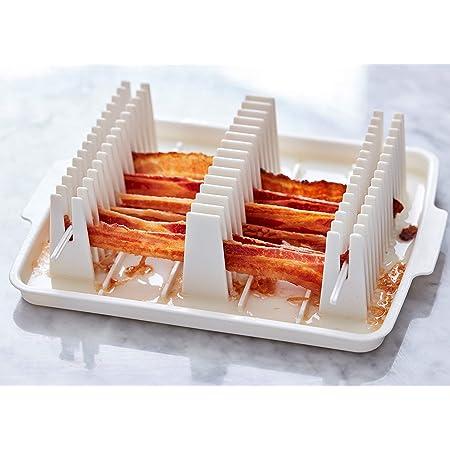 Blue Glaze Bacon Cooker Microwave Bacon Cooker Crispy Bacon In Stock